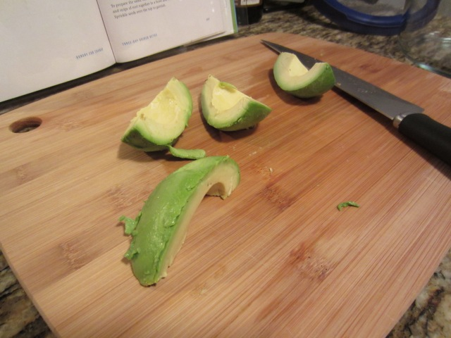 Avocados on cutting board