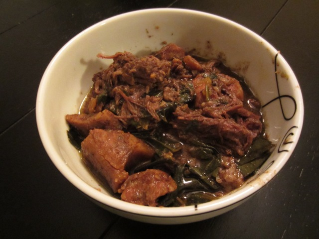 Beef plaintain stew