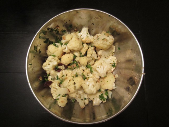 Coconut Oil Roasted Cauliflower